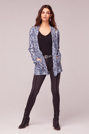 Californication Blue Snake Skin Print Blazer Master2