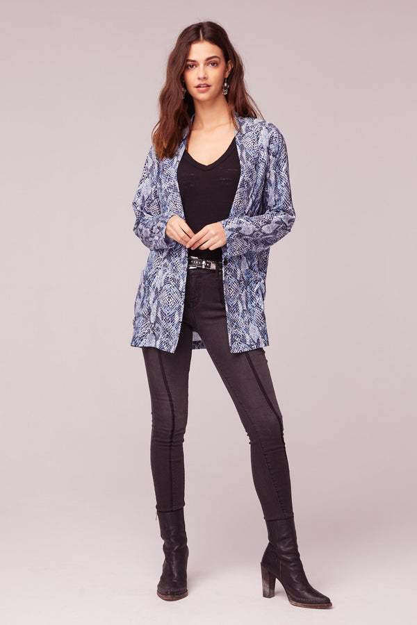 Californication Blue Snake Skin Print Blazer Master