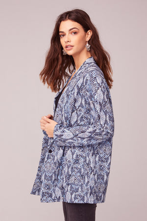 Californication Blue Snake Skin Print Blazer Side