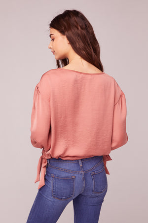 Can't Help Falling In Love Coral Top BAck2