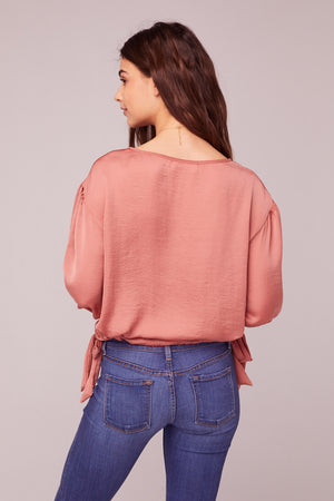 Can't Help Falling In Love Coral Top Back
