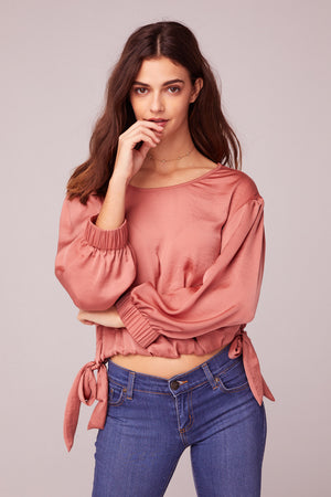Can't Help Falling In Love Coral Top Close