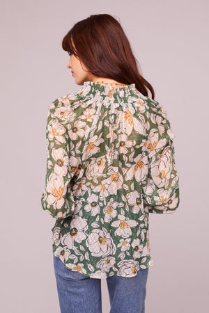 Canal St Floral Button Up Blouse Back