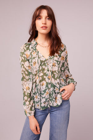 Canal St Floral Button Up Blouse Master