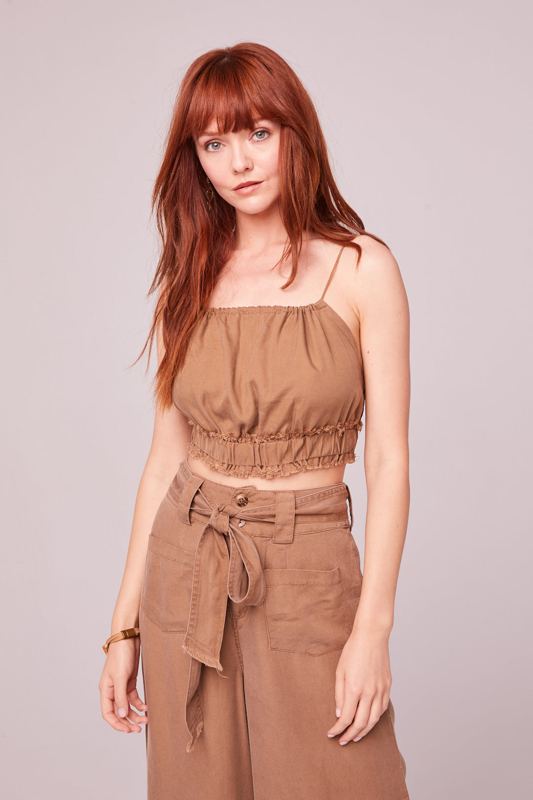 Capri Camel Crop Top Master