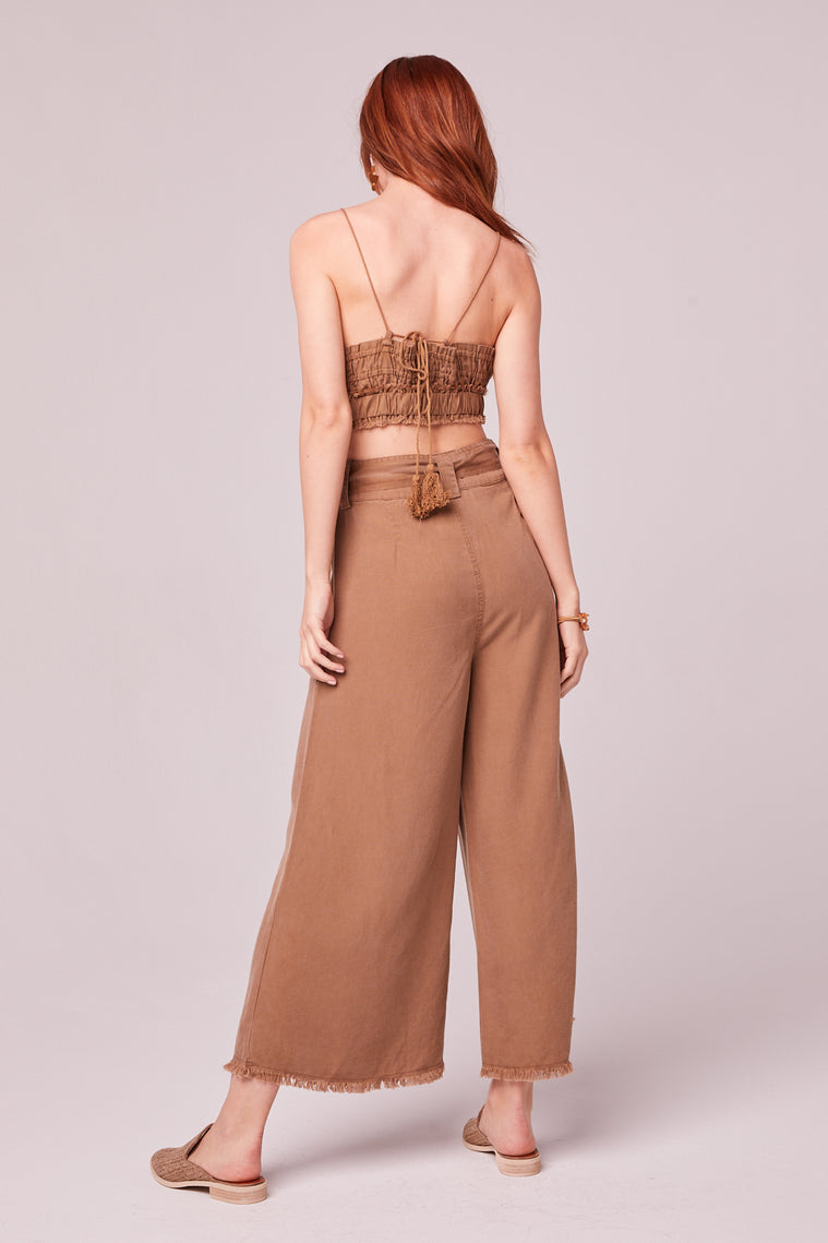 Capri Camel Crop Top Back