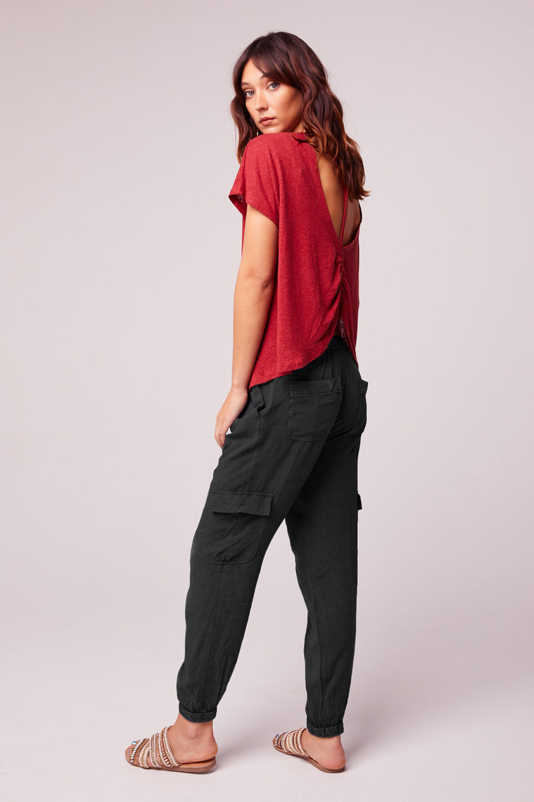 Chill Out Charcoal Black Cargo Pant Back