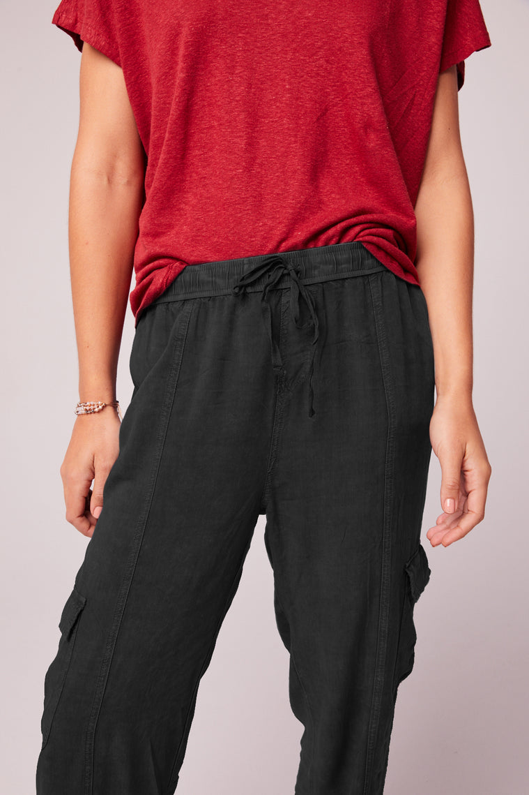 Chill Out Charcoal Black Cargo Pant Detail