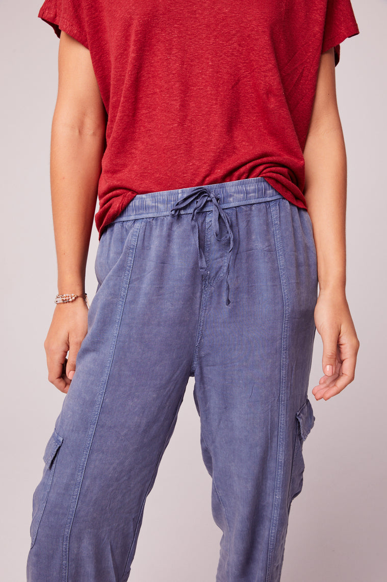 Chill Out Denim Blue Cargo Pant Close
