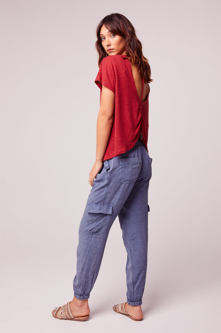 Chill Out Denim Blue Cargo Pant Back