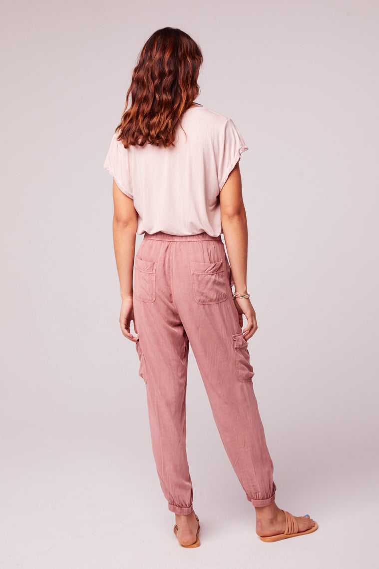 Chill Out Mauve Cargo Pant Back