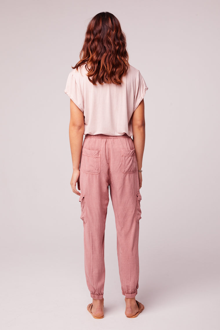 Chill Out Mauve Cargo Pant Back2