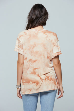 Clay Tie Dye V-Neck Tee Back 2