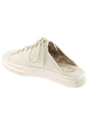Coast Vegan Ecru Brushed Satin Sneaker Mule Back