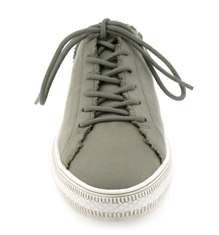Coast Vegan Gray Brushed Satin Sneaker Mule Front