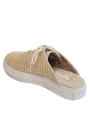Coast Vegan Sand Woven Fabric Sneaker Mule Back
