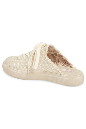 Coast Vegan Natural Woven Canvas Sneaker Mule Back