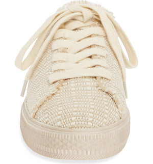 Coast Vegan Natural Woven Canvas Sneaker Mule Front