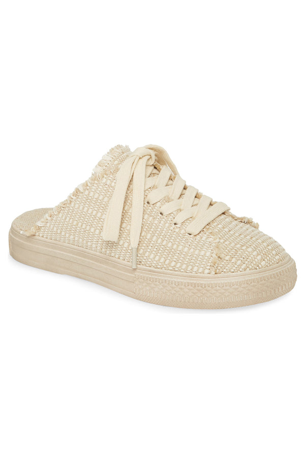 Coast Vegan Natural Woven Canvas Sneaker Mule Master