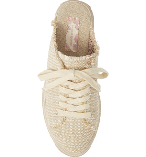 Coast Vegan Natural Woven Canvas Sneaker Mule Top