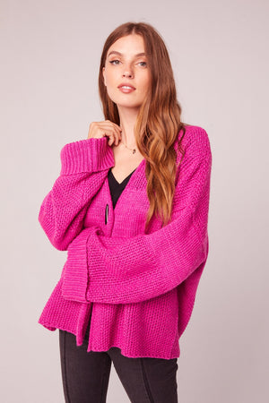 Copain Fuchsia Over Sized Cardigan Sweater