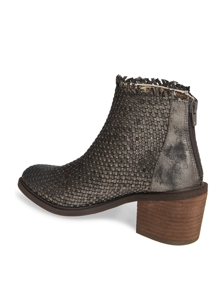 Cortez Pewter Metallic Woven Booties Back