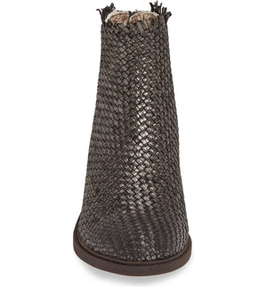 Cortez Pewter Metallic Woven Booties