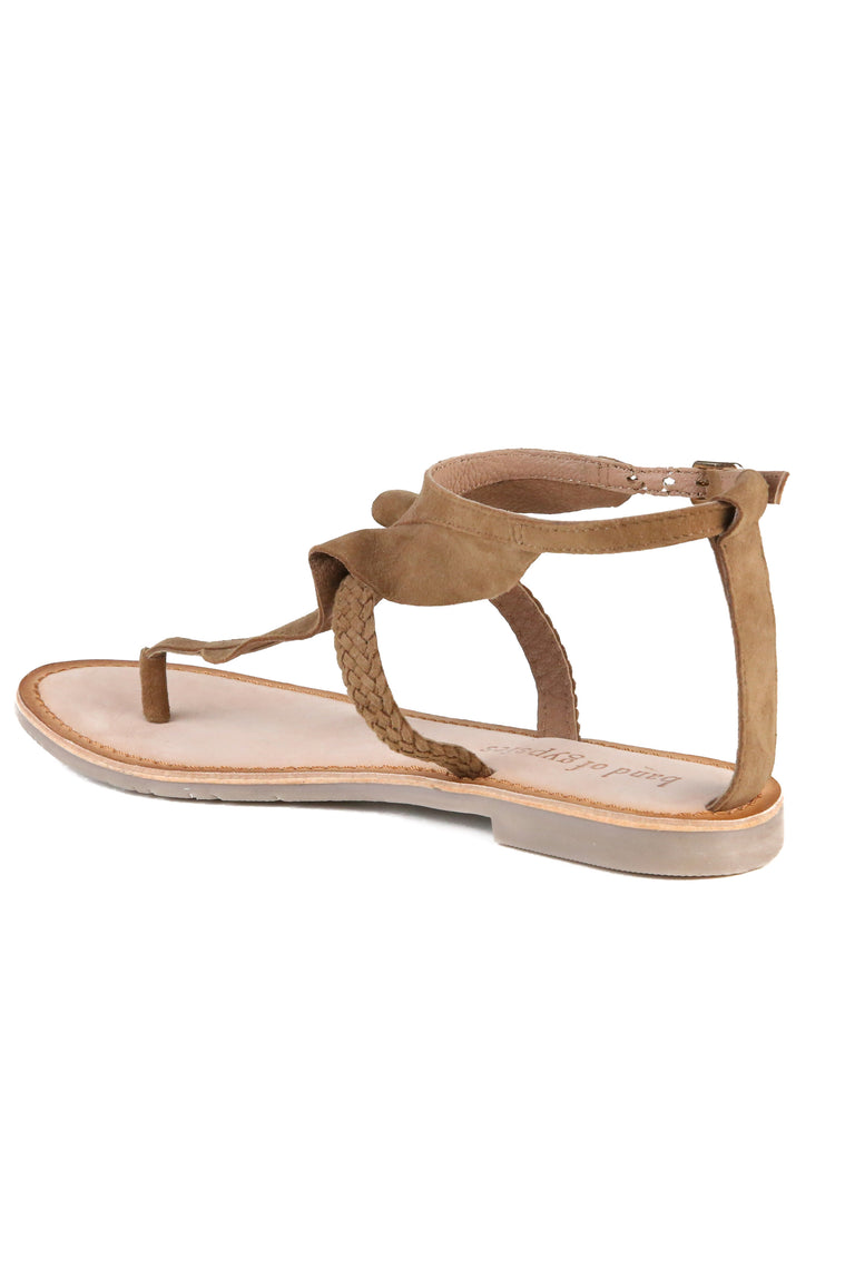Court Tan Sandal Back