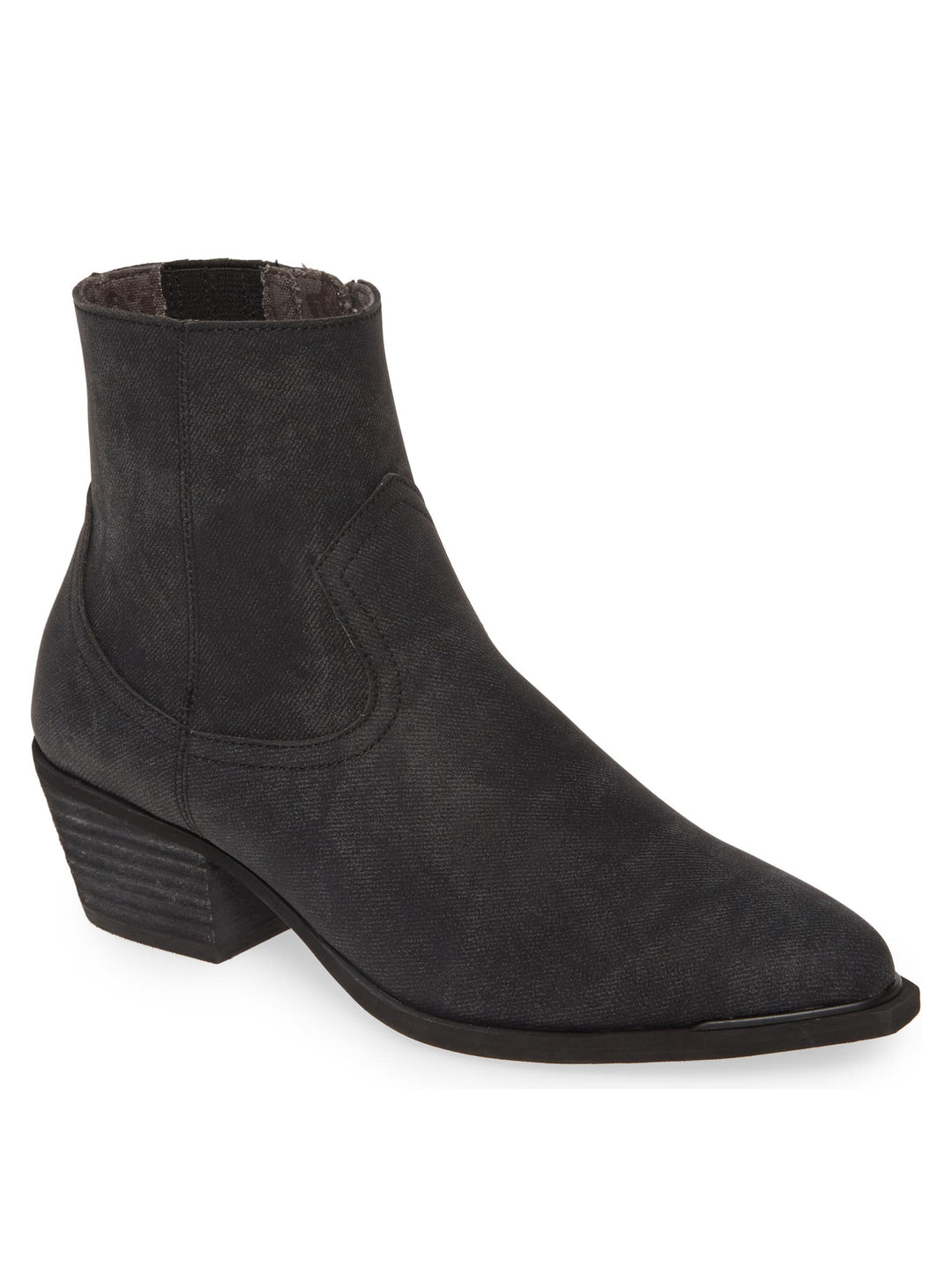 Creed Charcoal Stamped Denim Booties Master