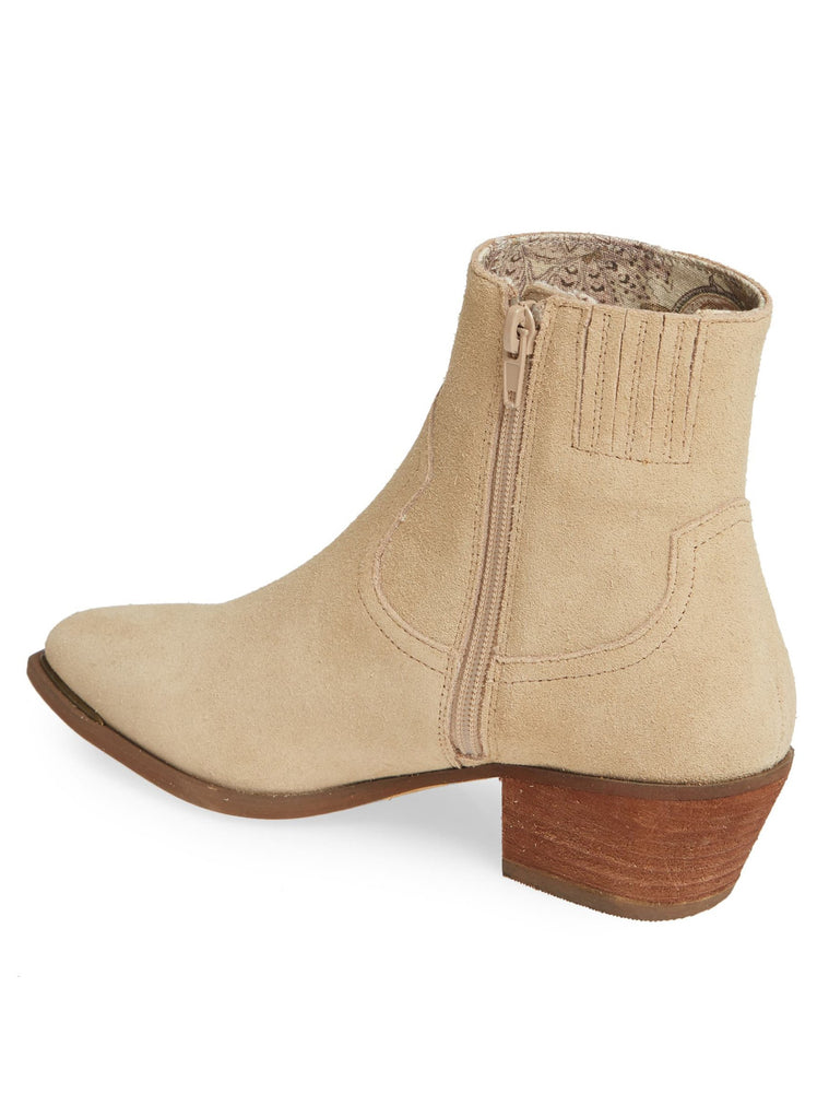 Creed Natural Suede Booties Back