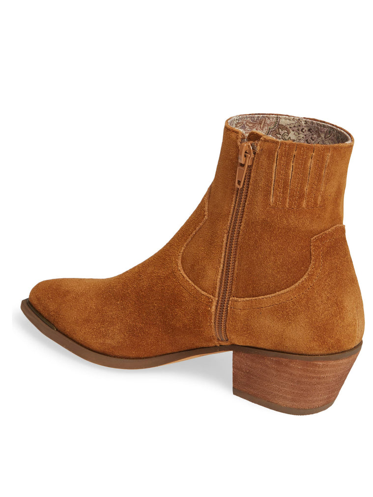 Creed Rust Suede Booties Back