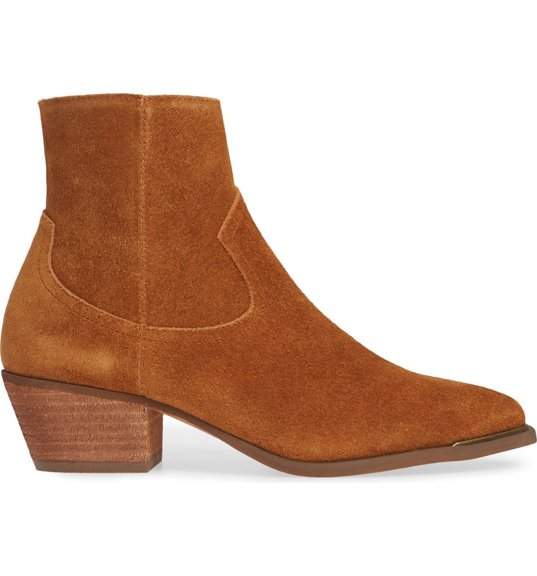 Creed Rust Suede Booties side