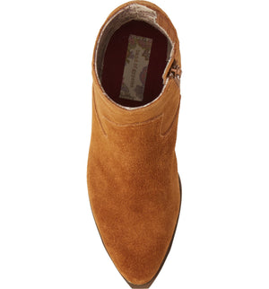 Creed Rust Suede Booties top