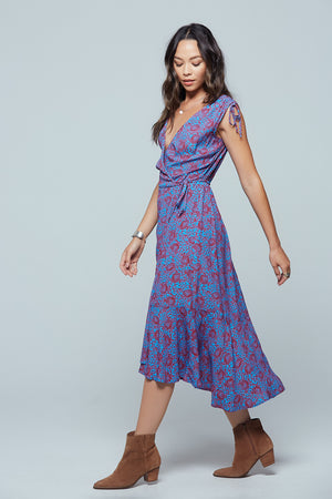 Crete Printed Midi Dress Side