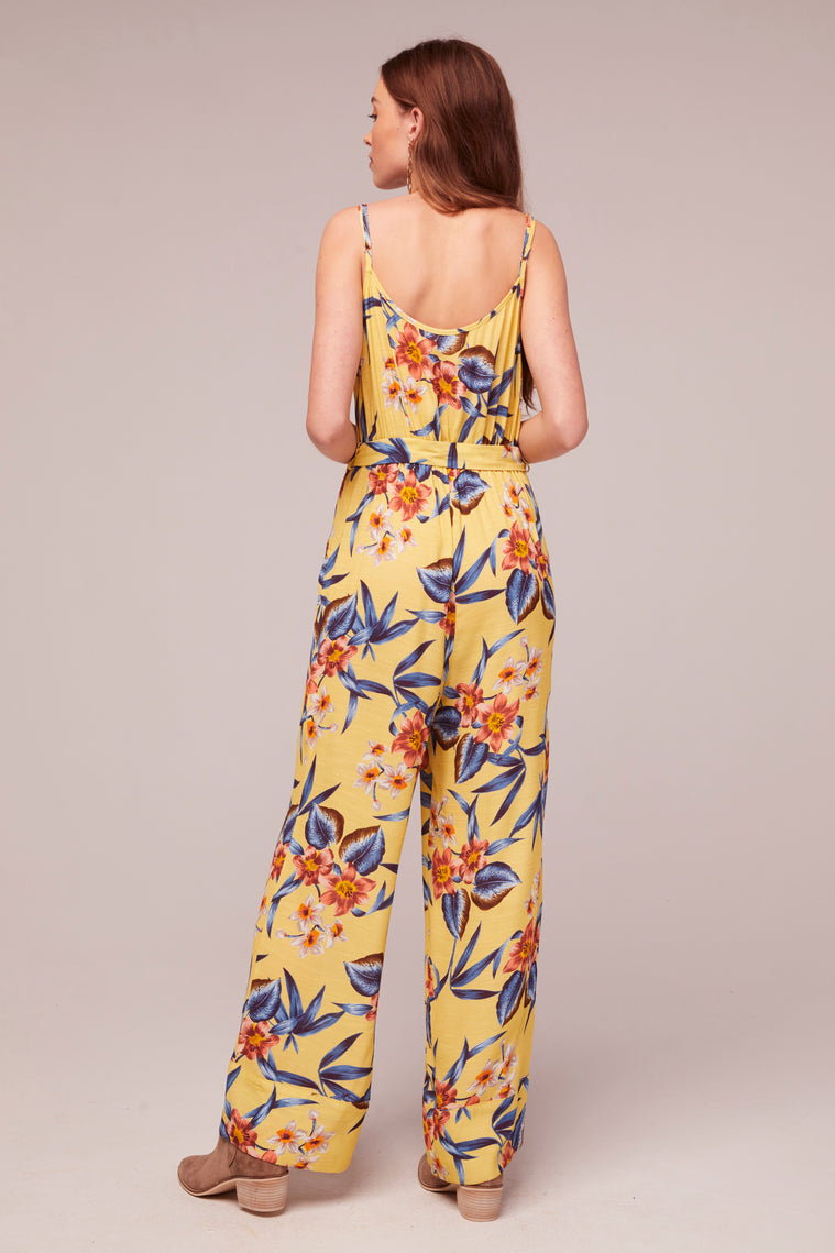 Daffodil Tropical Banana Print Jumpsuit Back