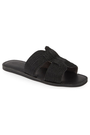 Del Rey Vegan Black Braided Rope Sandal Master