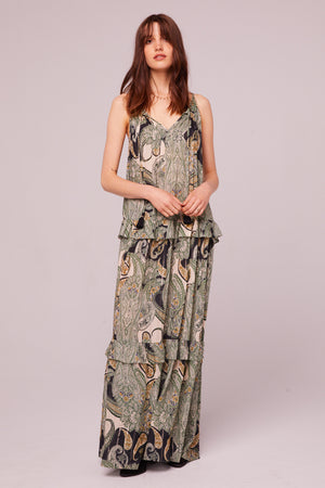 Del Rey Tiered Paisley Maxi Dress Master