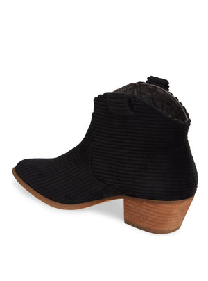 Delta Black Corduroy Booties Back