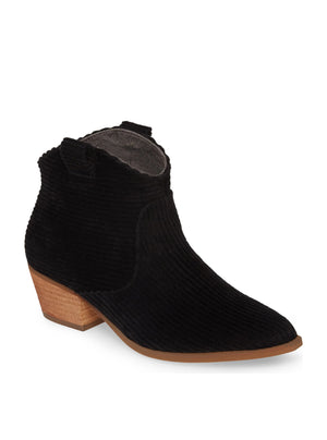 Delta Black Corduroy Booties