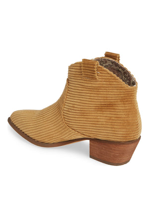 Delta Camel Washed Corduroy Booties Back