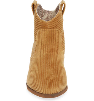 Delta Camel Washed Corduroy Booties