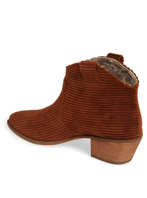 Delta Rust Washed Corduroy Booties Back