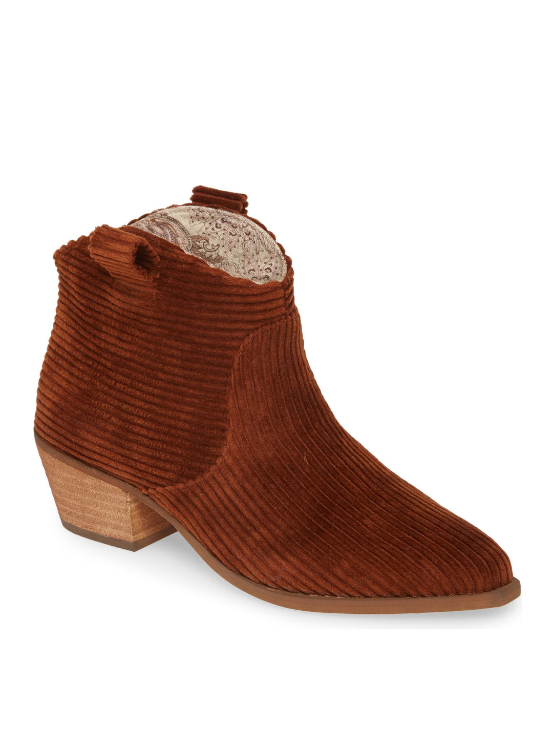 Delta Rust Washed Corduroy Booties