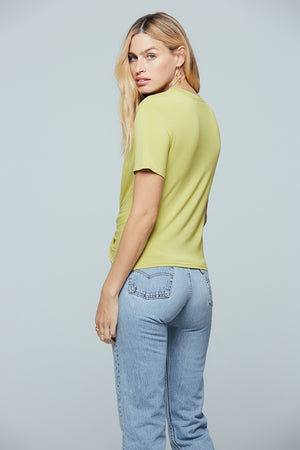Denali Twist Front Lime Tee Back 2