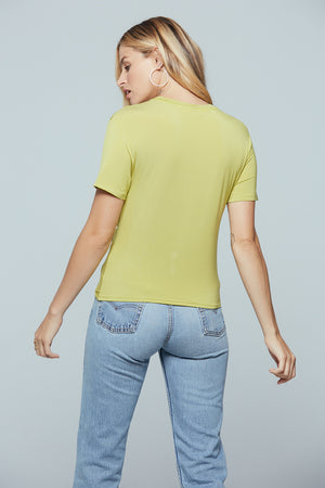 Denali Twist Front Lime Tee Back