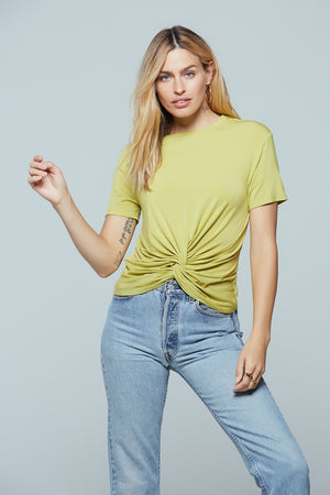 Denali Twist Front Lime Tee Master