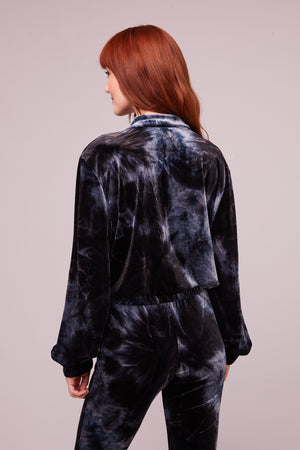 Dietrich Midnight Velvet Tie Dye Jacket Back