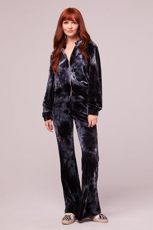 Dietrich Midnight Velvet Tie Dye Jacket Detail