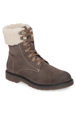 Dillon Grey Fleece Cuff Lace Up Boot Master