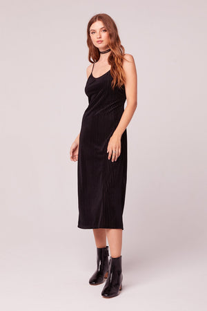 Dix Velvet Slip Dress Side